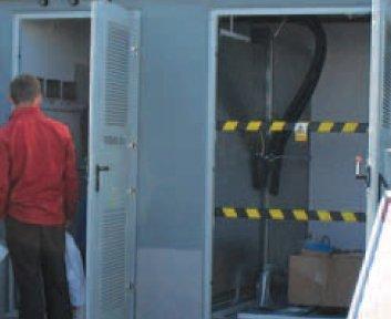 Fot. 1.  Widok przykładowej prefabrykowanej stacji transformatorowej