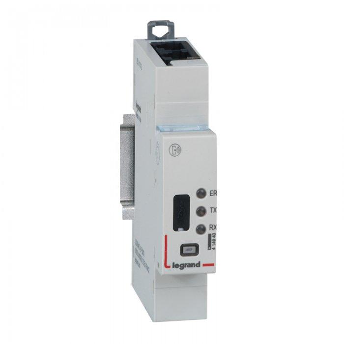 Elementy zdalnego nadzoru systemu EMS CX3 – moduł interfejsu EMS/RS485 Modbus oraz serwer sieciowy do montażu na wspornik TH35.