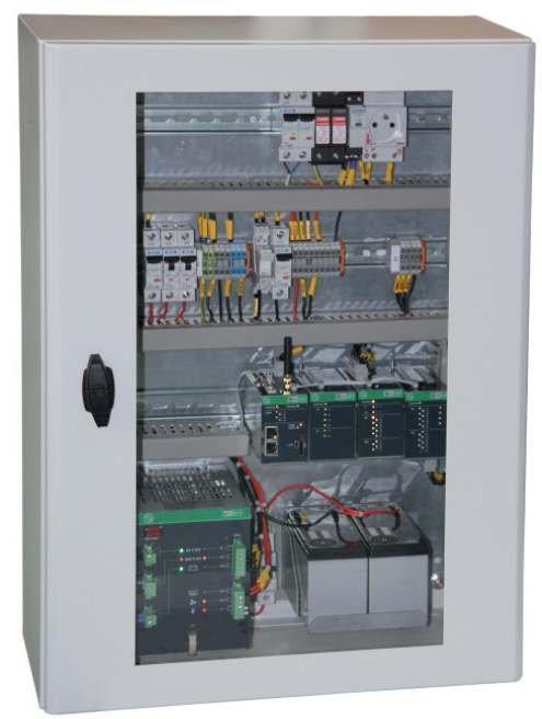 Fot. 1. Praktyczne wdrożenie urządzenia kontrolno-pomiarowego o architekturze opartej na modelu rozproszonym