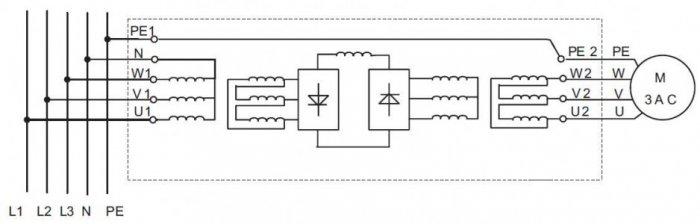 Rys. 3. Połączenie zacisków urządzenia z oznaczonymi żyłami