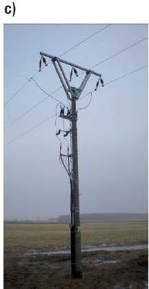 Fot. 8. Przykładowe stanowiska słupowe linii SN z głowicami kablowymi nowego typu z łącznikiem [6]