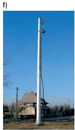 Fot. 8. Przykładowe stanowiska słupowe linii SN z głowicami kablowymi na słupie rurowym [6]