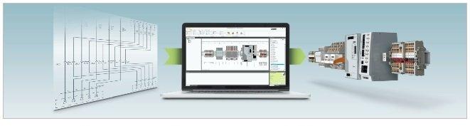 Dzięki oprogramowaniu Project Complete użytkownik może pobierać dane z zewnętrznych programów projektowych, a następnie drukować je przy pomocy drukarek firmy Phoenix Contact.