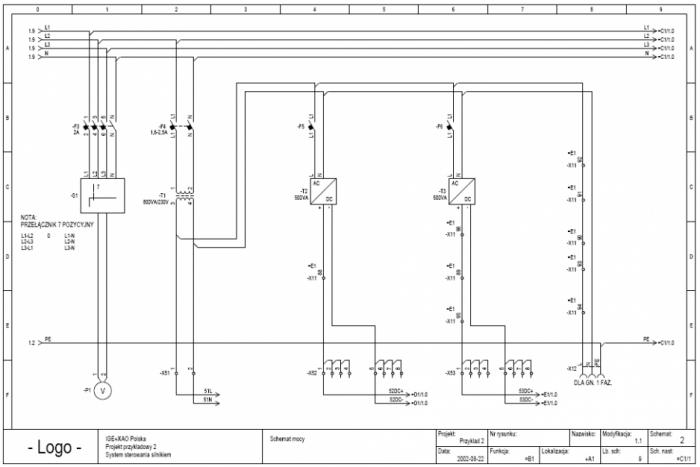 Przykładowy projekt z programu see electronical