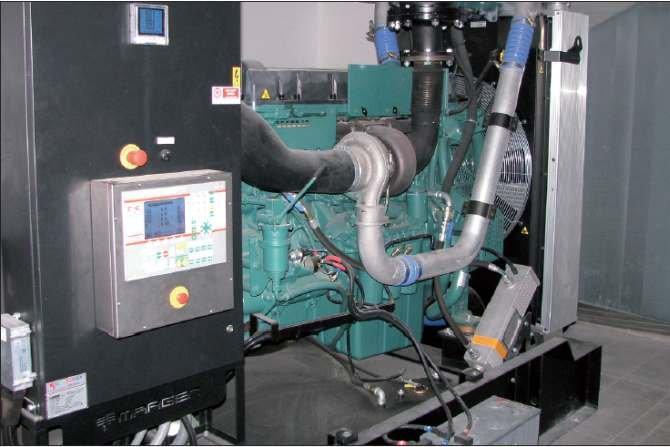 Fot. 1. Przykładowa instalacja zespołu prądotwórczego w pomieszczeniu