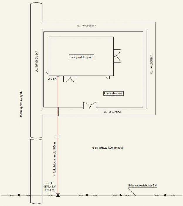 b uproszczony projekt instalacji rys1 2