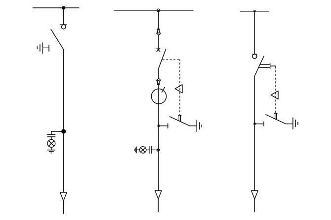 Przykładowe schematy jednokreskowe pola liniowego