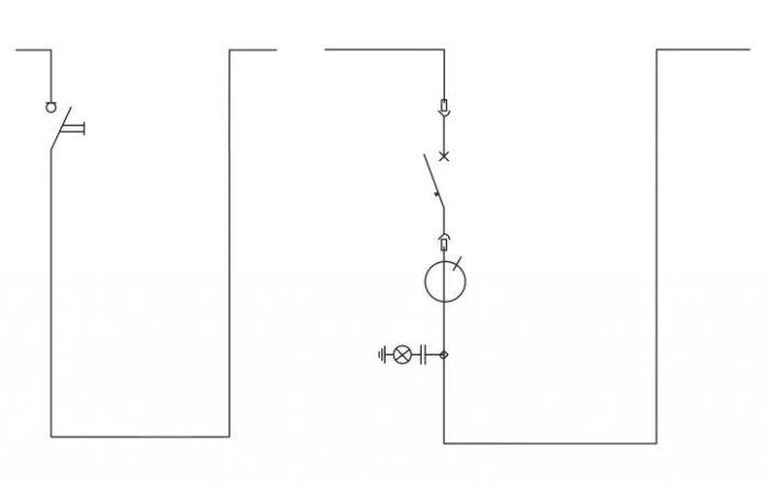 Rys. 3.  Przykładowy schemat jednokreskowy pola sprzęgłowego