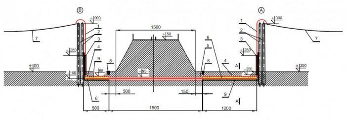 rys 3 przekroj kablowego odcinka linii napowietrznej