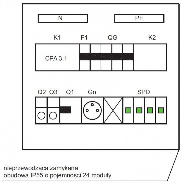 rys 3 schemat montazowy szafki sterowania oswietleniem
