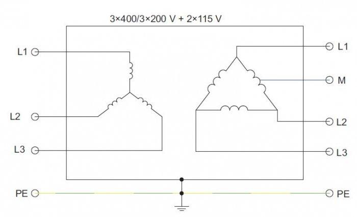 rys 4 schemat ideowy uzwojen transformatora