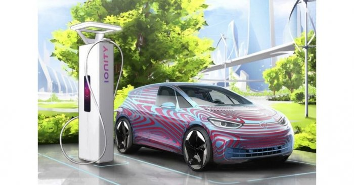 Stacja ładowania pojazdów elektrycznych Fot. Volkswagen