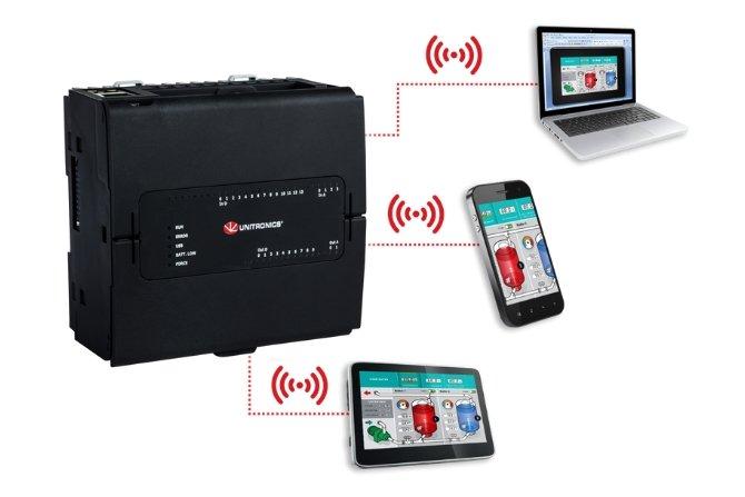 UniStream PLC z wirtualnym HMI