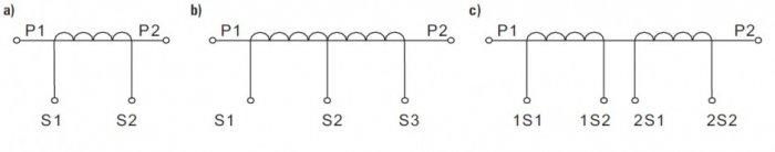 rys 1 oznaczenia zaciskow przekladnikow pomiarowych