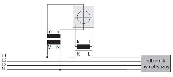 rys 1 uklad do pomiaru energii elektrycznej z wykorzystaniem pojedynczego przekladnika pradowego i napieciowego