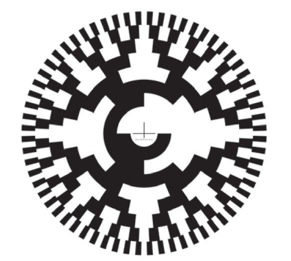 rys 5 osmiobitowa tarcza przetwornika dla kodu gray a