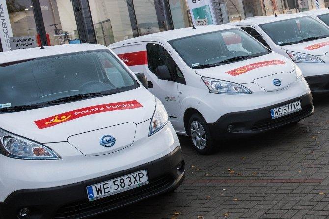 Pierwsze samochody dostawcze EV Fot. Poczta Polska