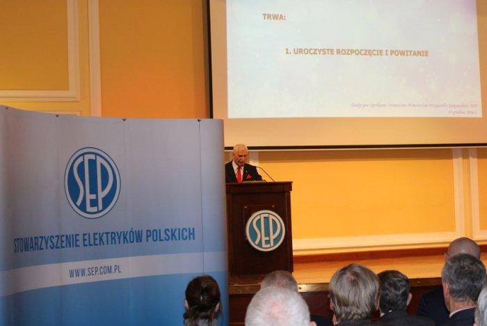 Powitanie uczestników przez Prezesa SEP.