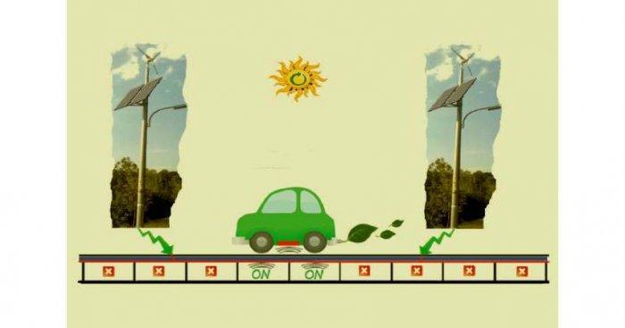 Rys. 7. Idea zelektryfikowanej drogi z bezprzewodowym ładowaniem PEV Rys. S. Bielecki