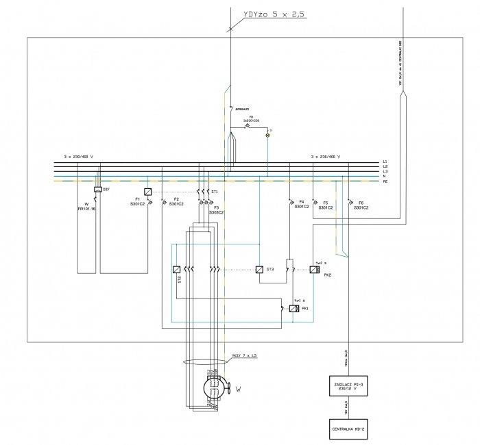 projekt sterowania wentylacja zasilacza ups rys2