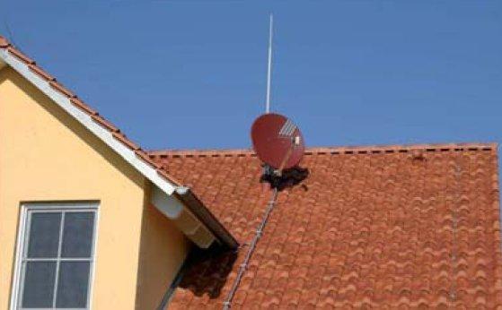 fot 2 wykorzystanie przewodu o izolacji wysokonapieciowej do ochrony odgromowej anten 6 1