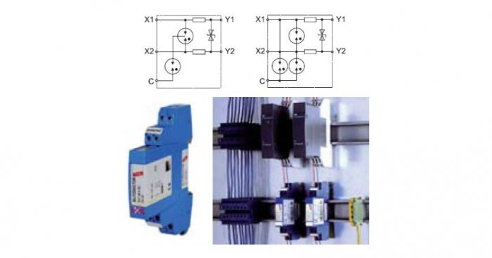 Przykłady montażu urządzeń do ograniczania przepięć w obwodach iskrobezpiecznych