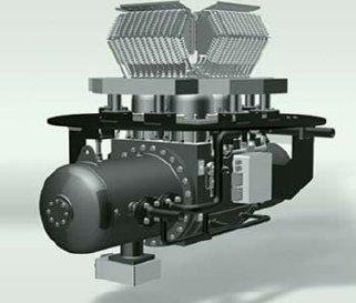 rys 2 czterocylindrowy silnik stirlinga dwustronnego dzialania sd4 e firmy stirling dk 18 1