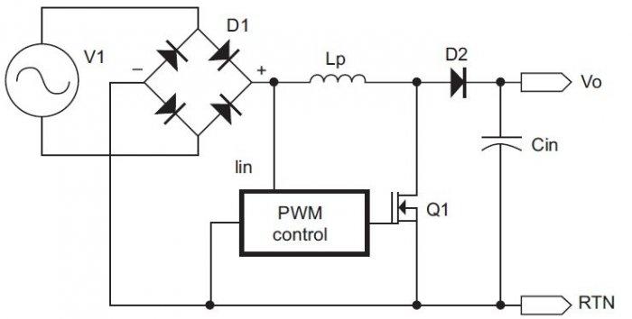 rys 2 schemat blokowy aktywnego korektora wspolczynnika ksztaltu