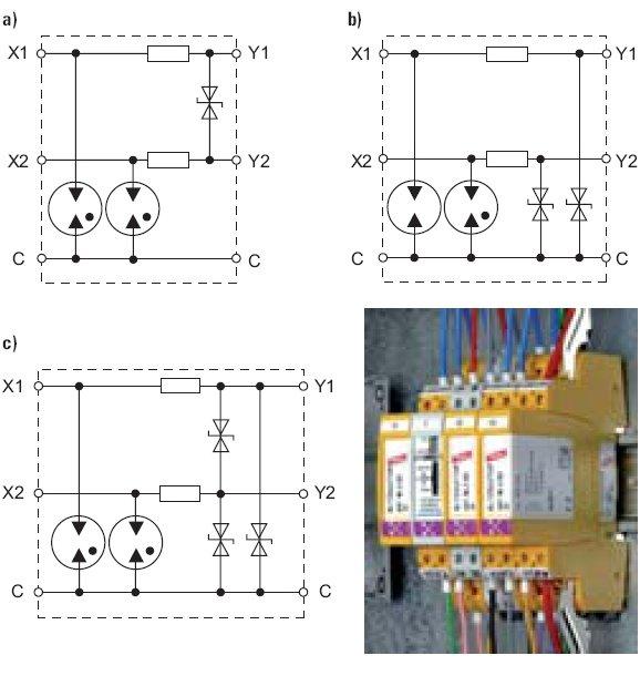 rys 2 schematy typowych spd oraz przyklad ich montazu na szynie 35 mm 1