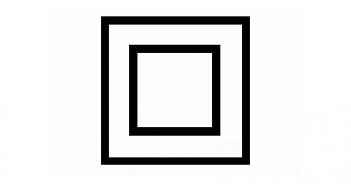 Symbol oznaczenia II klasy ochronności dla urządzenia elektrycznego (zgodnie z PN‑EN 61140:2005 [4]) Fot. arch. redakcji