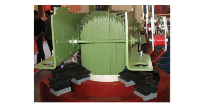 Fot. 1. Przykład rdzenia z blachy krzemowej zimnowalcowanej w transformatorze suchym