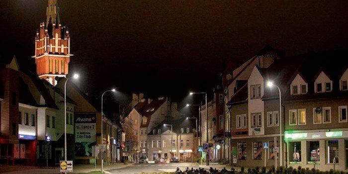 Modernizacja oświetlenia w Kętrzynie objęła swoim zakresem 80 % systemu oświetleniowego miasta, fot. K. Strzałka-Gołuszka, J. Strzałka