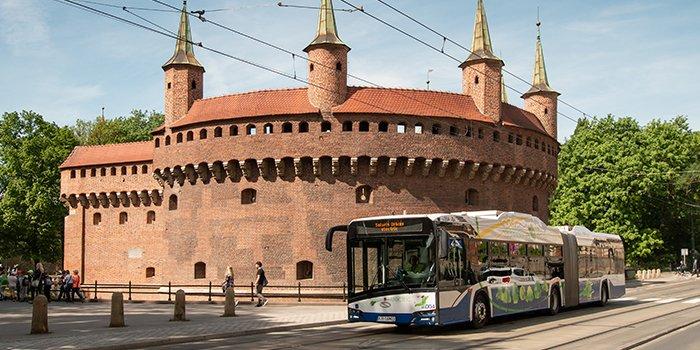 50 nowych autobusów elektrycznych będzie jeździć po Krakowie, fot. Solaris Bus
