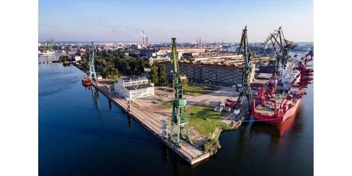 W stoczni w Gdańsku powstaje konstrukcja do morskiej stacji elektroenergetycznej, fot. portalmorski.pl