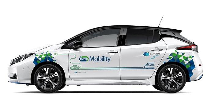 PKP Mobility – wynajem samochodów elektrycznych, fot. PKP