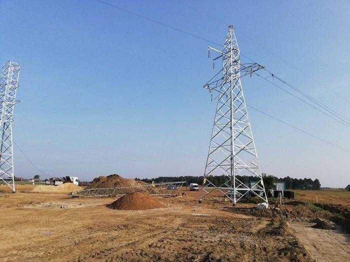 Teren budowy GPZ Fitowo. Fot. Energa-Operator