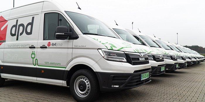 50 elektrycznych samochodów marki MAN trafi do floty DPD, fot. Carefleet