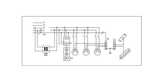 Rys. 2.Schemat instalacji dla pomieszczeń grupy 2 [4] Rys. J. Wiatr