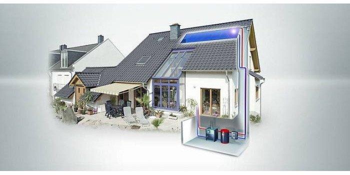 Fot.1. Przykładowa instalacja solarna wykonana z ArmaFlex® DuoSolar