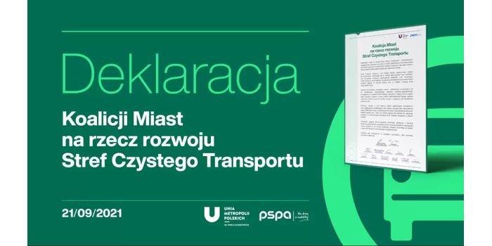 Samorządy podpisały Deklarację miast na rzecz rozwoju Stref Czystego Transportu